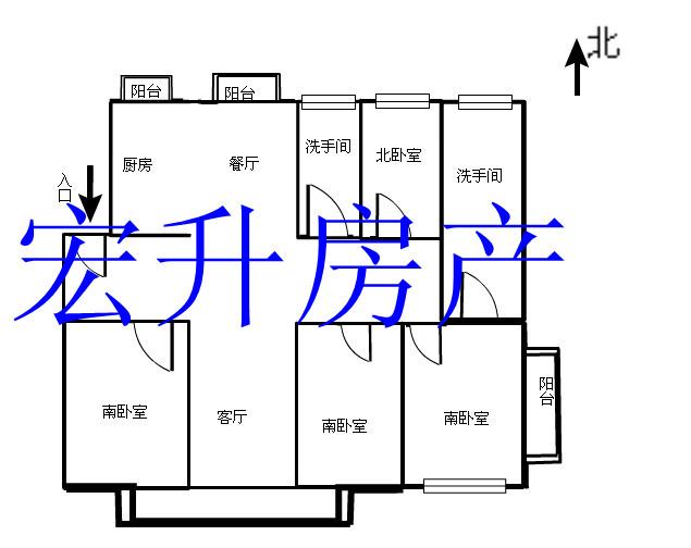 出售 开发区 德胜 国奥天地  房源基本信息 房源信息:四室两厅两卫四